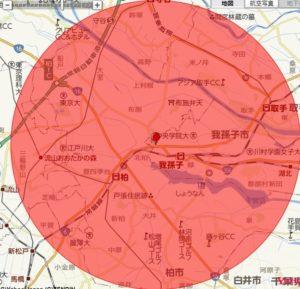 北柏-半径-地図